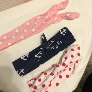 Accessories - Lot of 3 baby/toddler kerchief-style headbands